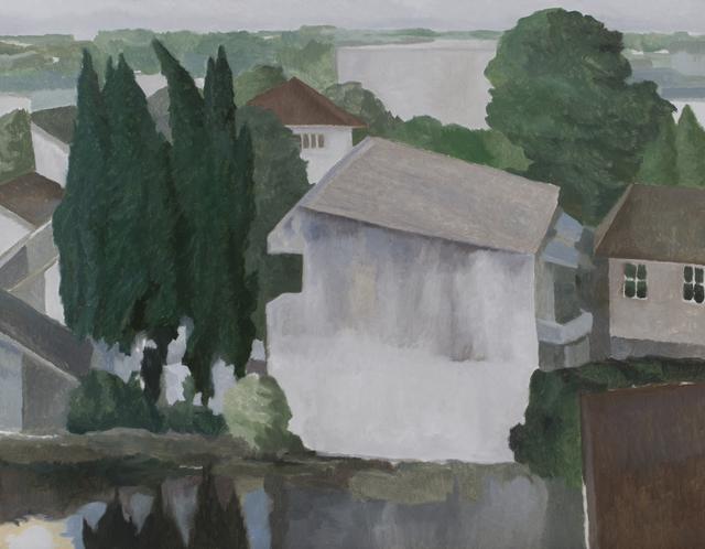 , 'Leaning House Near the Pond,' 2017, Richard Koh Fine Art