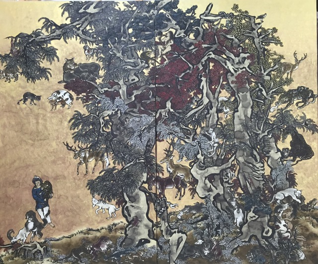 , 'Mustard Seed Garden - Young Man with Leopard,' 2014-2016, Tang Contemporary Art