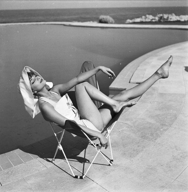 Georges Dambier, 'Marie-Helene Arnaud, Eden Roc, Cap d'Antibes, Elle,' 1957, Benrubi Gallery