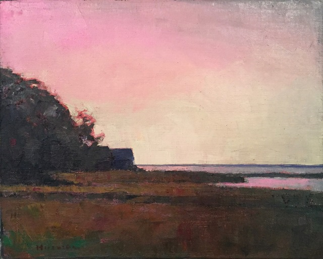 ", '""Crimson Dusk"" Pink and Yellow Sunset Sky with Dark Foreground,' 2010-2018, Eisenhauer Gallery"
