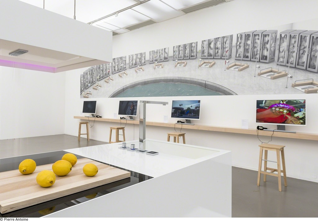 "Installation view of ""Co-Workers: Network as Artist"" at Musée d'Art Moderne de la Ville de Paris (2015-2016)"
