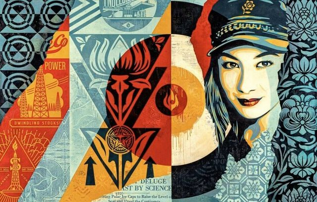 "Shepard Fairey, '""Raise the Level""', 2019, Print, Screen Print On Fine Art Print, New Union Gallery"