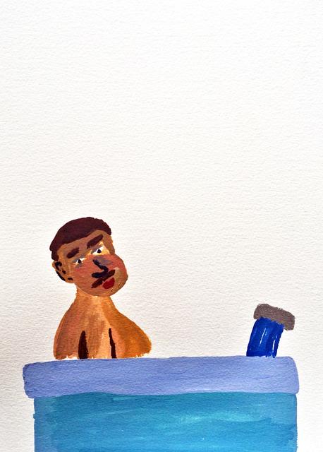 , 'Men in Baths 4,' 2015, Childs Gallery