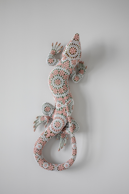Joana Vasconcelos, 'Rosalinda', 2019, Sculpture, Rafael Bordalo Pinheiro faience painted with ceramic glaze, Azores crocheted lace, Mimmo Scognamiglio / Placido
