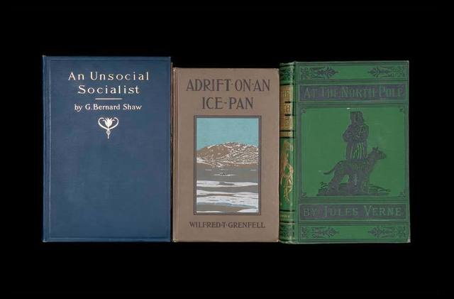 "Nina Katchadourian, '""An Unsocial Socialist"" from ""Once Upon a Time in Delaware/In Quest of the Perfect Book"" (""Sorted Books"" project, 1993--ongoing)', 2012, Catharine Clark Gallery"