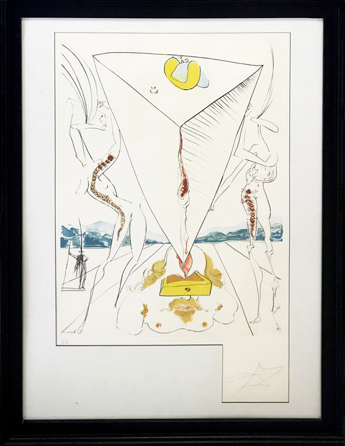Salvador Dalí, 'PHILOSOPHER CRUSHED BY THE COSMOS', 1974, Print, ENGRAVING WITH LITHOGRAPHIC COLOR, Gallery Art