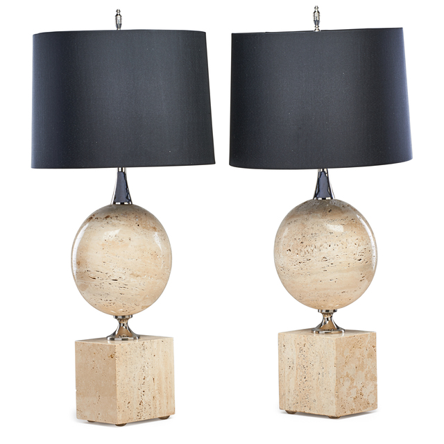 Attributed to Philippe Barbier, 'Pair of table lamps', Rago