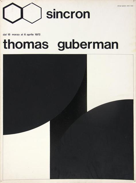 Thomas Guberman, 'Bozzetto Sincron', 1972, Itineris