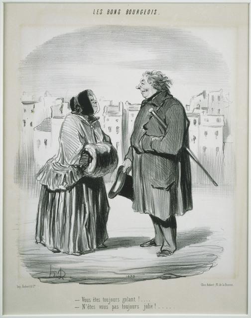 Honoré Daumier, 'Les Bons Bourgeois: Vous êtes toujours galant!', 1847, Phillips Collection