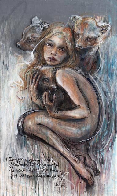 Herakut, 'Goldylocks', 2019, Painting, Acrylic paint, spray paint, ink & charcoal on canvas, Corey Helford Gallery