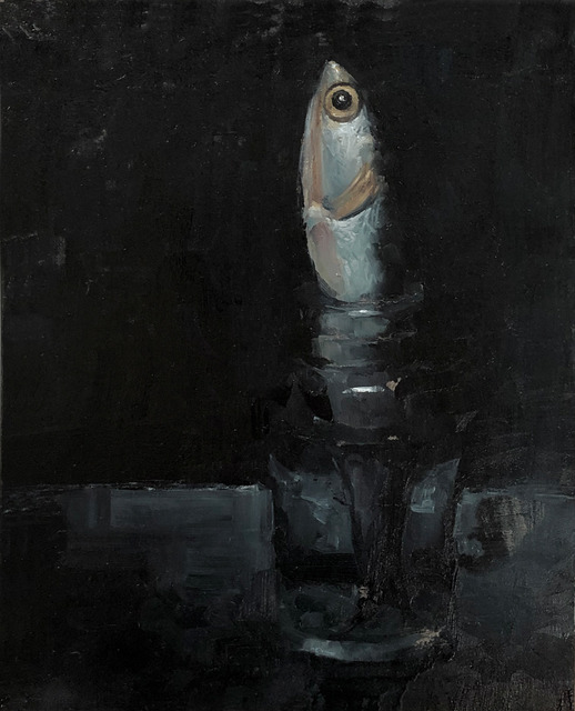 Tom Giesler, 'Floral 4: thawed anchovy', 2020, Painting, Oil on panel, McVarish Gallery