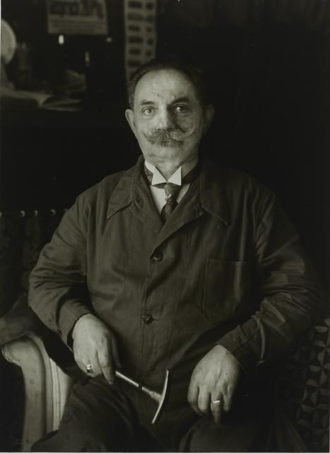 August Sander, 'II/8/17 Master Upholsterer, Berlin', 1929, Galerie Julian Sander