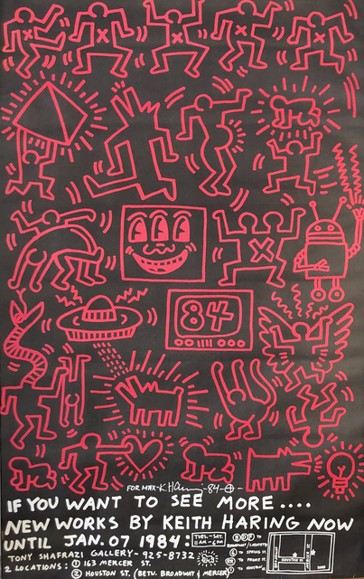Keith Haring, 'New Works by Keith Haring, Shafrazi Exhibition Announcement', 1984, Woodward Gallery