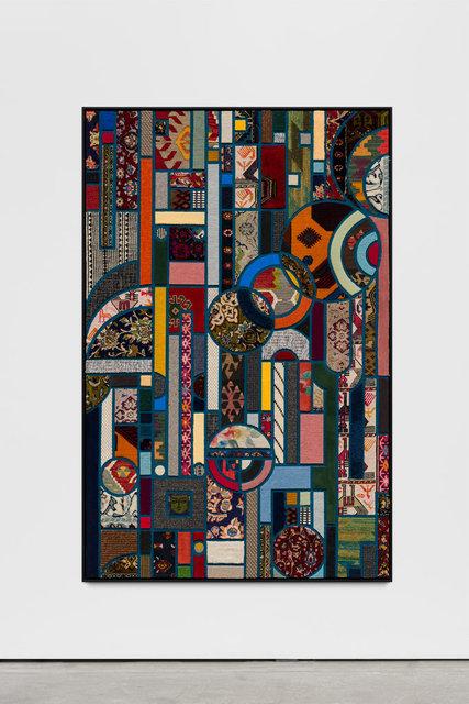 , 'Social Fabric, petrol #2,'  2019, Wentrup