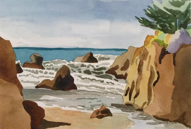 , 'Pacific Coast Cove,' 2018, Matt Brown Fine Art