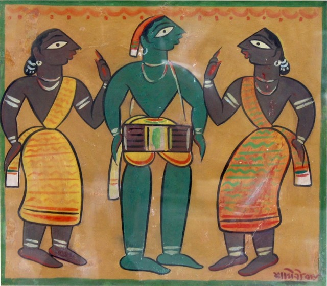 Jamini Roy, 'Untitled (Drummer with Santhals)', n/a, Aicon Gallery