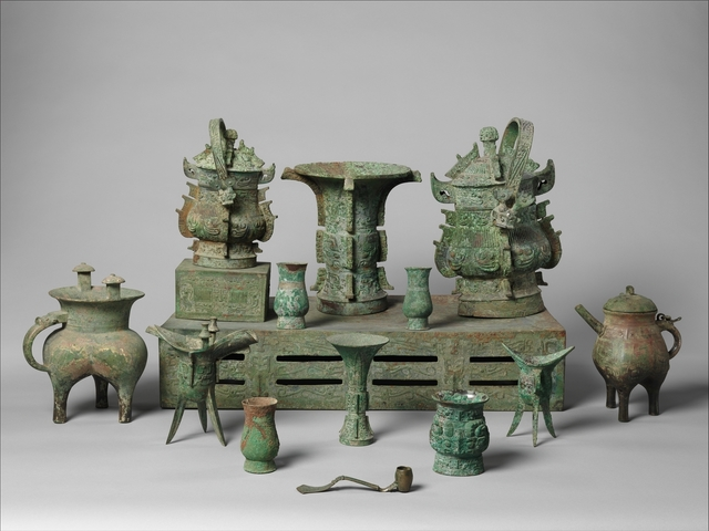 Unknown Chinese, 'Altar Set', late 11th century B.C., The Metropolitan Museum of Art