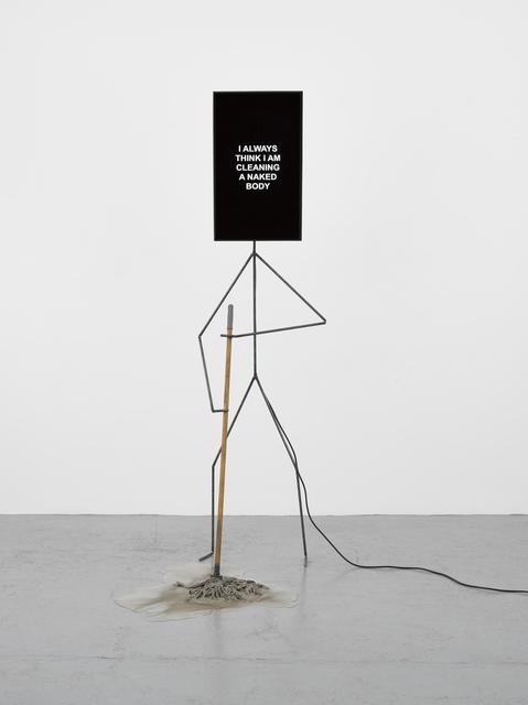 , 'Metal Man cleaning the salty floor,' 2017, Lisson Gallery