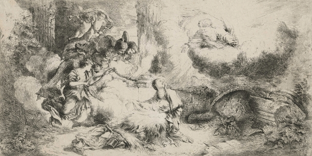 , 'The Nativity with God the Father and Angels,' ca. 1647, Childs Gallery