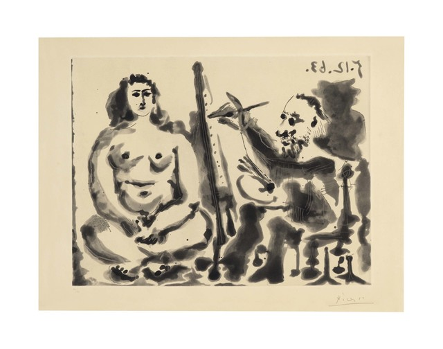 Pablo Picasso, 'Peintre et modèle. IV', 1963, Christie's