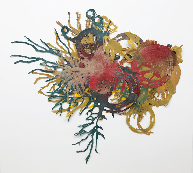 Joan Hall, 'The New Living Reef #1', 2020, Drawing, Collage or other Work on Paper, Handmade paper using kozo, gampi, and abaca, Childs Gallery