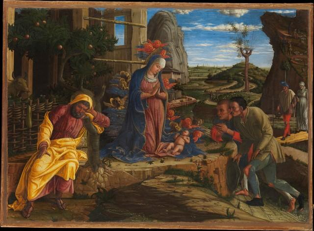 Andrea Mantegna, 'The Adoration of the Shepherds', ca. 1450, The Metropolitan Museum of Art