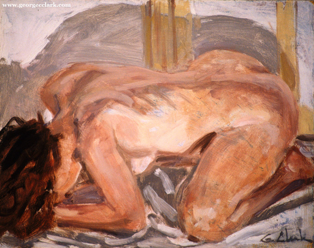 George C Clark, 'Crouching Nude', 2017, Nude Nite After Hours