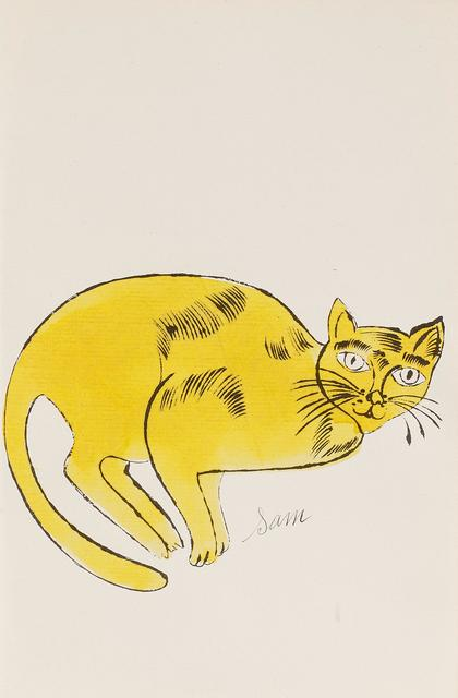 Andy Warhol, 'Sam (From 25 Cats named Sam and one blue Pussy, FS IV. 67A.)', ca. 1954, Frank Fluegel Gallery