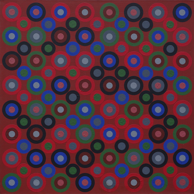 , ' Large Circle Series: Red Ground,' ca. 1966, Francis Frost
