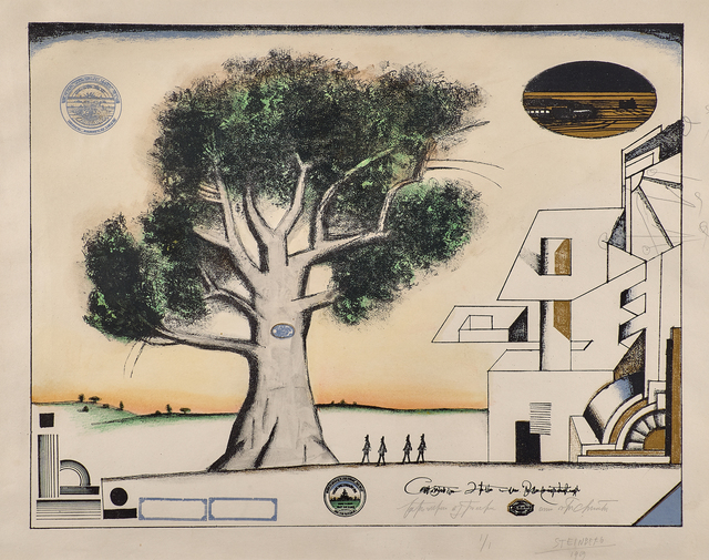 Saul Steinberg, 'The Tree, Nine Variations, No. 9', 1969, Rago