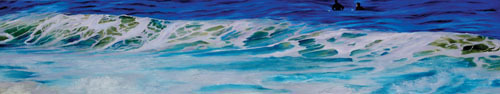 Kay Bradner, 'Foam Wave', 2011, Painting, Oil on aluminum, Seager Gray Gallery