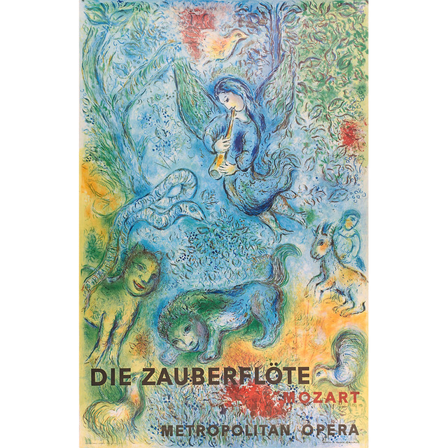 Marc Chagall, 'The Magic Flute Metropolitan Opera Lithograph Poster', 1967, Ephemera or Merchandise, Offset color plate lithography, Cross Contemporary Partners