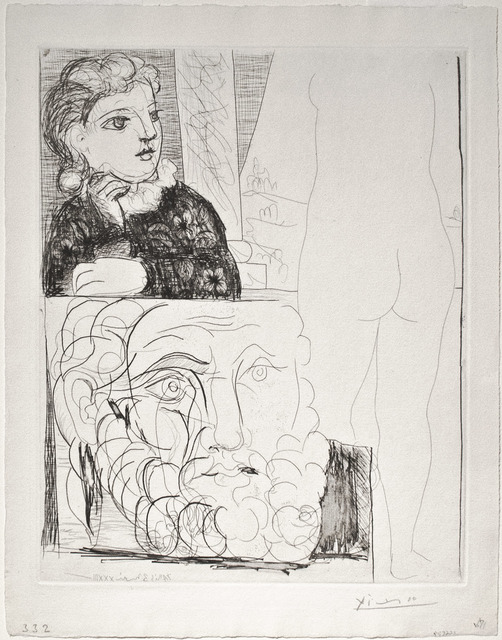 , 'Femme accoudée Sculpture de dos et Tête barbue,' 1933, R. S. Johnson Fine Art