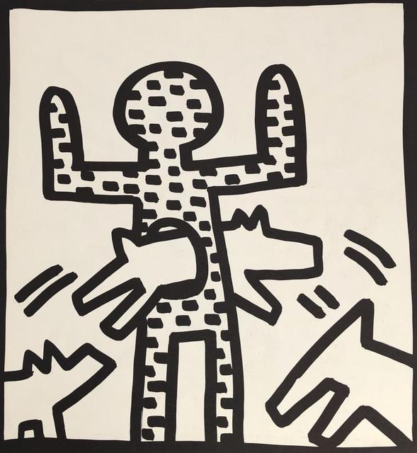 Keith Haring, 'Keith Haring (untitled) man dog lithograph 1982', 1982, Lot 180