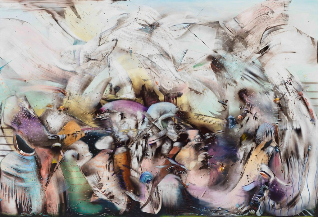 Ali Banisadr, The World Upside Down, 2018, Courtesy the artist and Blain Southern