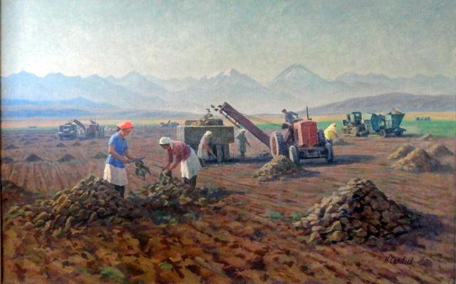 Nikolai Solovyov, 'Beet Picking', 1966, OYANU Gallery