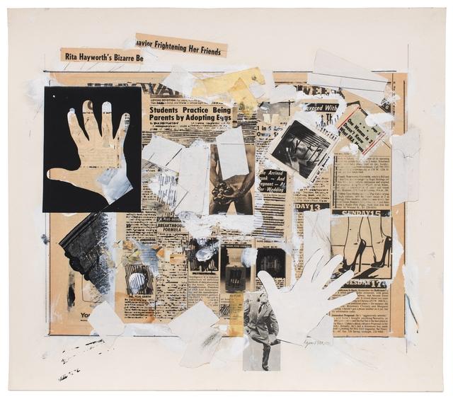 , 'HAND-ME-DOWN #8 (taken/in/hand),' 1981, Reynolds Gallery