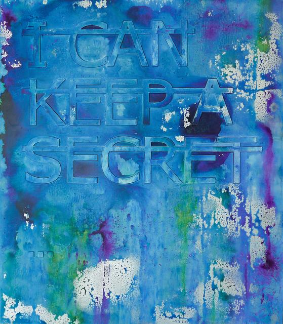 , 'Untitled (I CAN KEEP A SECRET...),' 2018, Fabien Castanier Gallery