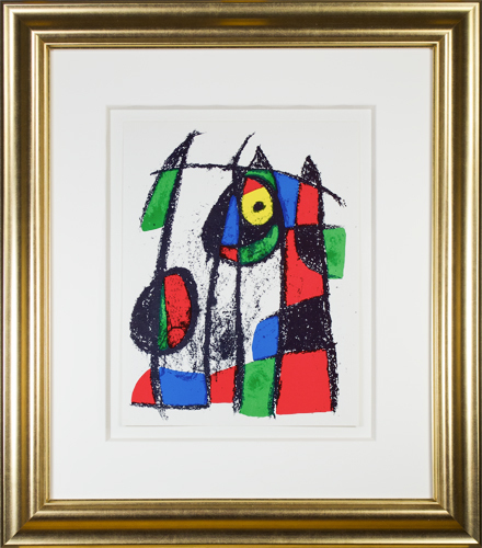 ", 'Original Lithograph VII from ""Miro Lithographs II, Maeght Publisher"",' 1975, David Barnett Gallery"