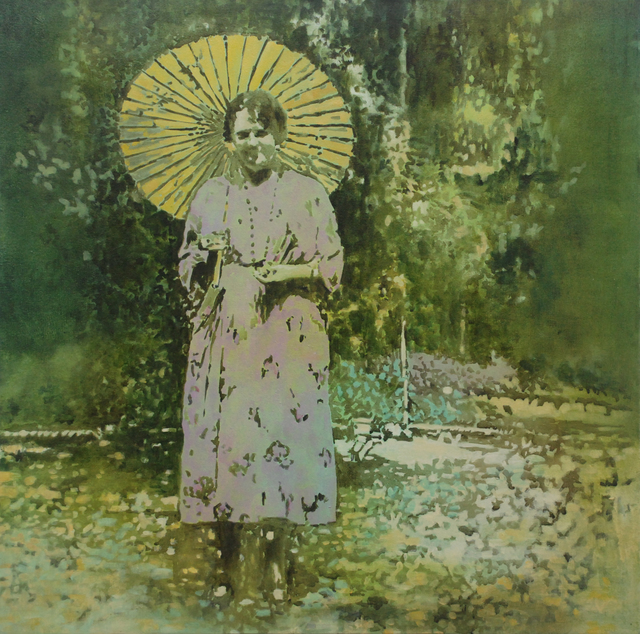 Annette Pugh, 'Woman with Parasol', 2019, Painting, Oil on canvas, Reuben Colley Fine Art
