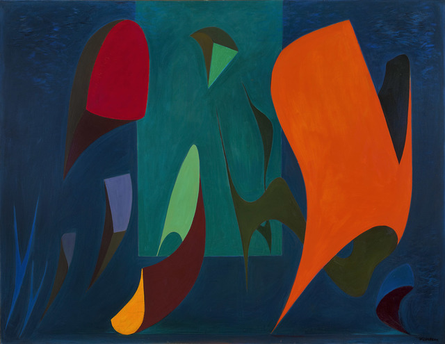 Lorser Feitelson, 'Magical Forms, 1945', 1945, Painting, Oil on canvas, Louis Stern Fine Arts