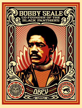 Shepard Fairey (OBEY), 'Bobby Seale Stamp', 2004, KP Projects