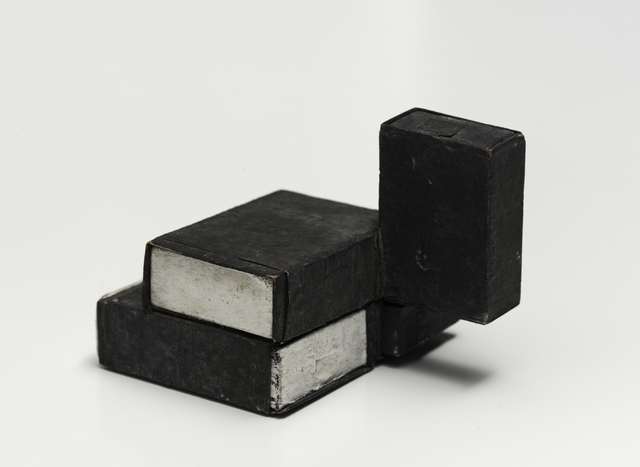, 'Estruturas de caixas de fósforos preto/branco [match box structures black and white],' 1964, Bergamin & Gomide