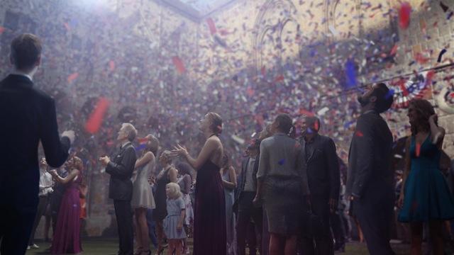 ", 'the ""confetti"" piece,' , Sean Kelly Gallery"