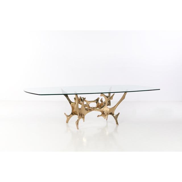 Fred Brouard, 'Rencontre - N° 1/8 - Table', 1977, Design/Decorative Art, Verre et bronze doré, PIASA
