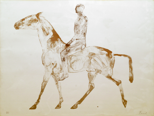 Elisabeth Frink, 'Grey Rider', 1970, Print, Lithograph Printed In Colours On Watermarked T.H. Saunders Paper, Roseberys