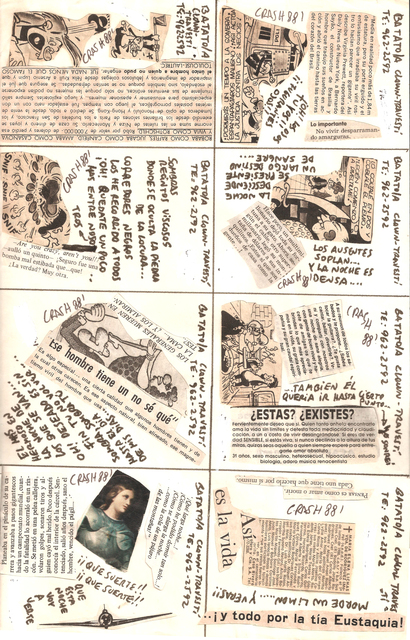 ", 'Untitled, (Flyer/ collage for ""Freedom Disco"" and ""Crash Disco"").,' 1988, Cosmocosa"