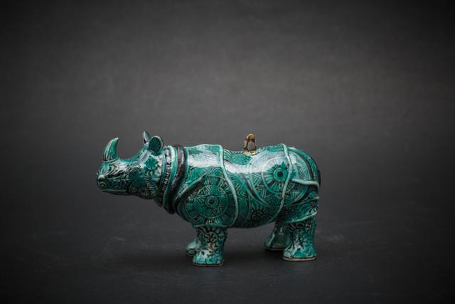 , '22. Small Rhino (green),' 2017, Sladmore Contemporary