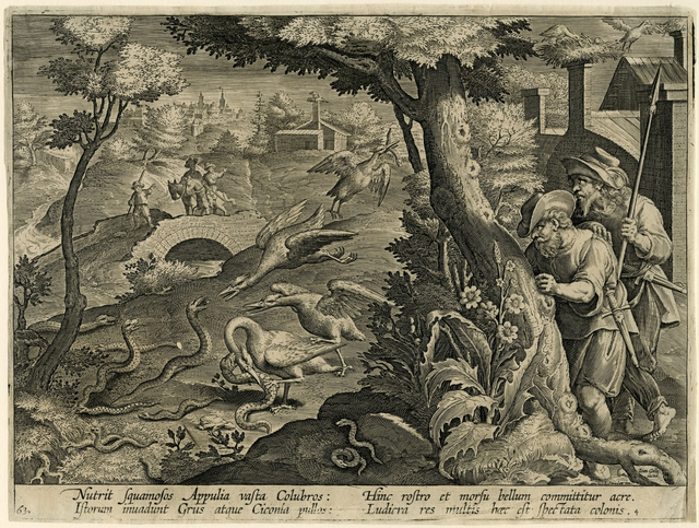 , 'Cranes Catching Snakes,' , Bowdoin College Museum of Art
