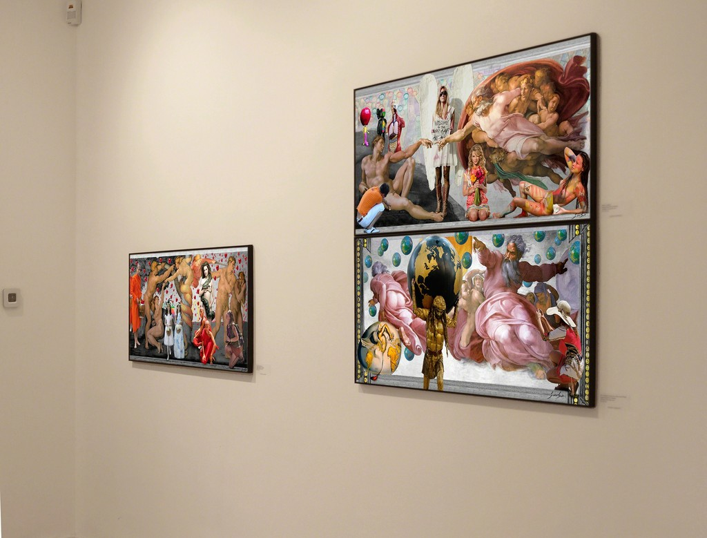 Details of the Lluis Barba Sistine Chapel, printed on glossy photo paper.